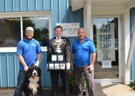Calder Cup Visits Usmail Electric, Proud Sponsor of the Utica Comets! -